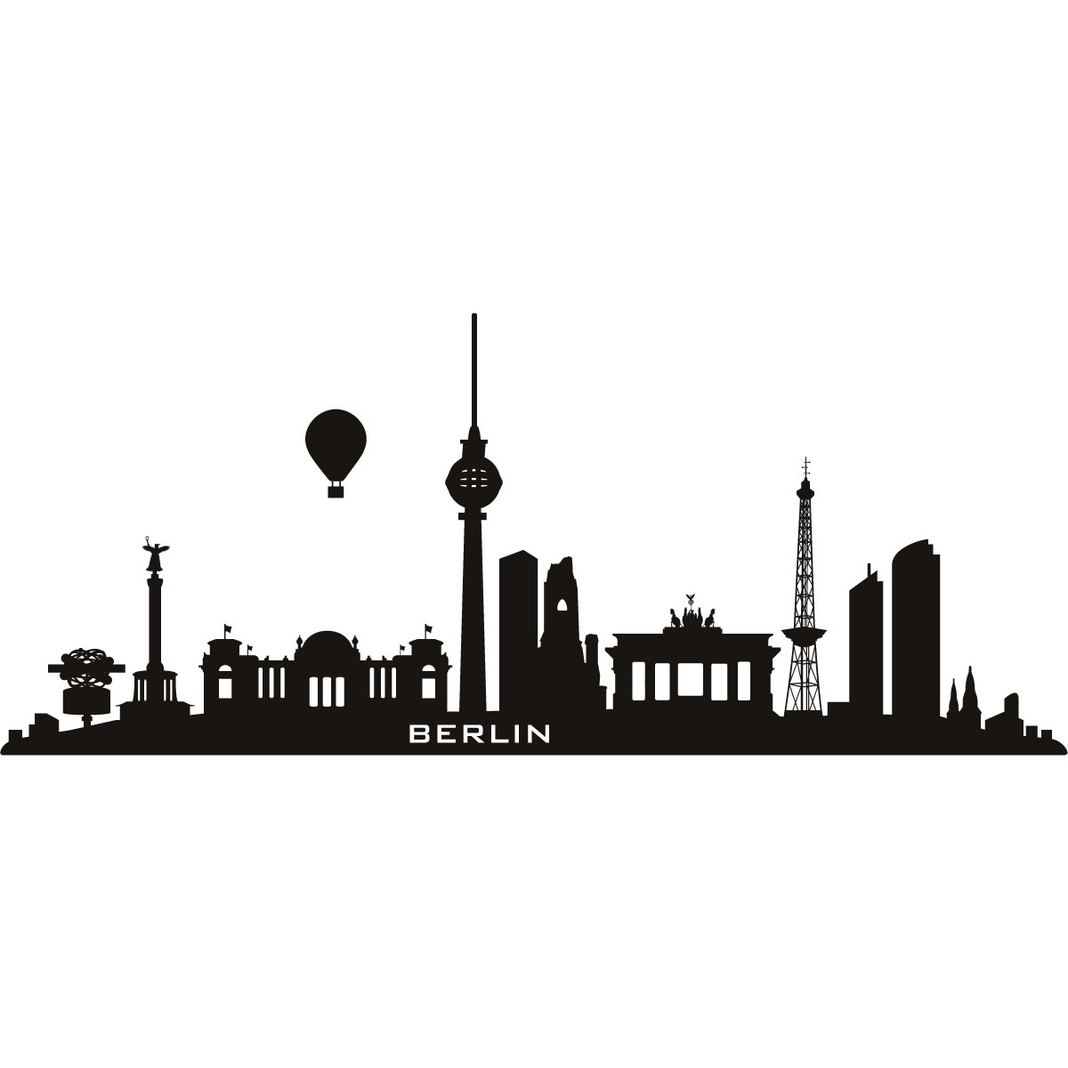 Berlin Germany Skyline Cities Wall Art Decal Wall Stickers 02 Berlin Skyline Berlin Wandkunst