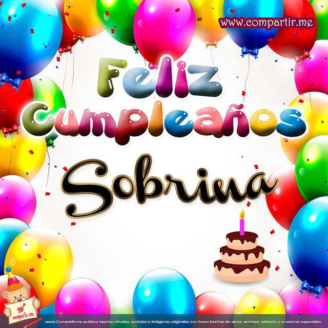 Imágenes Para Compartir: Postal: Feliz Cumpleaños Sobrina