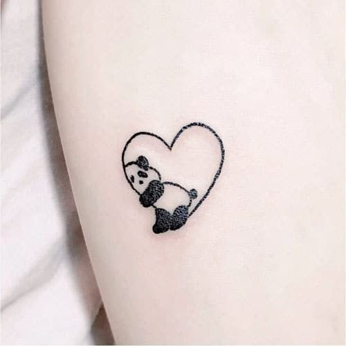 51 Cute Heart Tattoo Designs You Will Love 2020 Guide Panda Tattoo Small Heart Tattoos Heart Tattoo Designs
