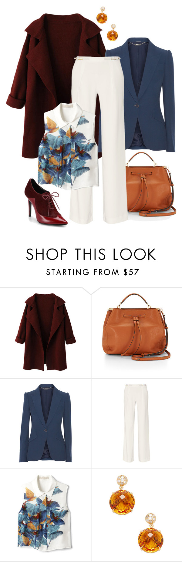 """""""Layering for the Office"""" by forestcat-lsc ❤ liked on Polyvore featuring Rebecca Minkoff, Alexander McQueen, Halston Heritage, Elle Sasson, Carelle and Sigerson Morrison"""
