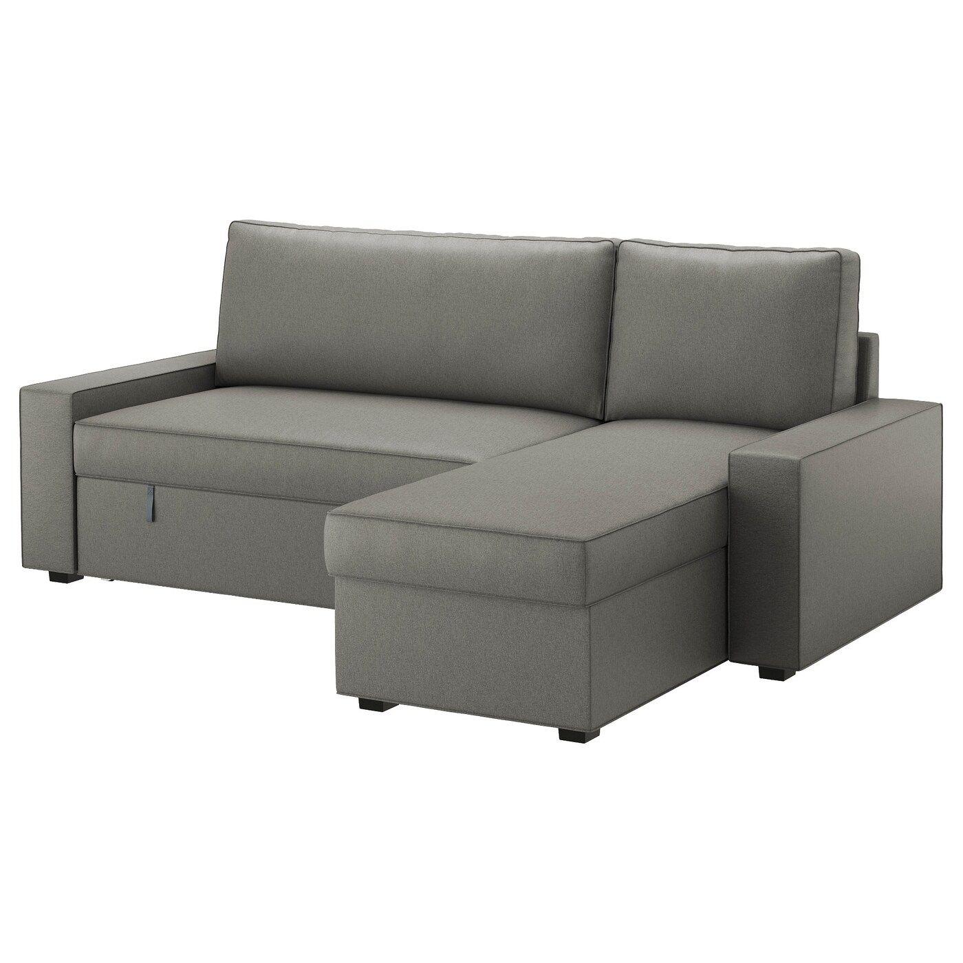 Slaapbank Ikea Karlstad.Vilasund Hoes Slaapbank Met Chaise Longue In 2020 Sofa Bed Sofa