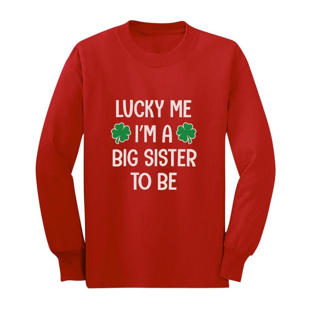 Lucky To Be a Big Brother Patrick/'s Toddler//Kids Long sleeve T-Shirt Gift St
