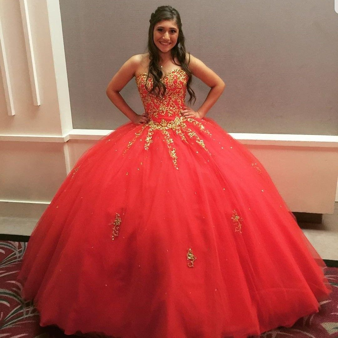 Red And Gold Quinceanera Quinceanos Red Gold Quinceanera Dresses Gold Red Quinceanera Dresses Quincenera Dresses [ 1080 x 1080 Pixel ]
