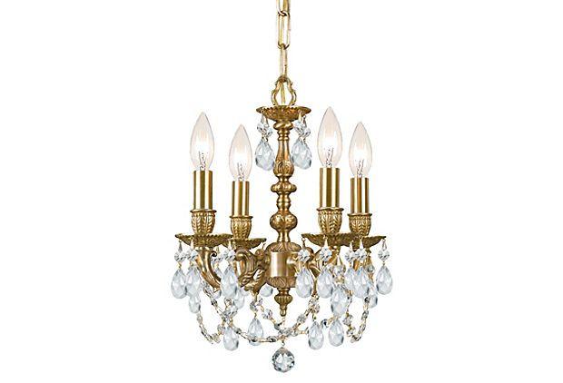 Gramercy 4-Light Mini Chandelier, Brass on OneKingsLane.com