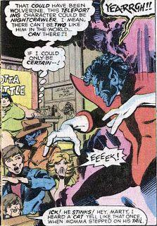 Hypnotized Nightcrawler. (X-Men Vol.1 #111)