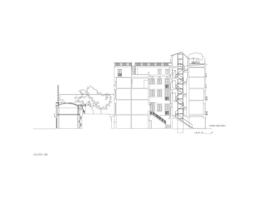 Miralles Tagliabue EMBT. low cost renovation flats. Barcelona