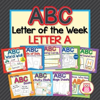 This ABC Letter of the Week Letter A Sampler highlights the variety of activities that are included in my ABC Super Bundle.  The nine activities…