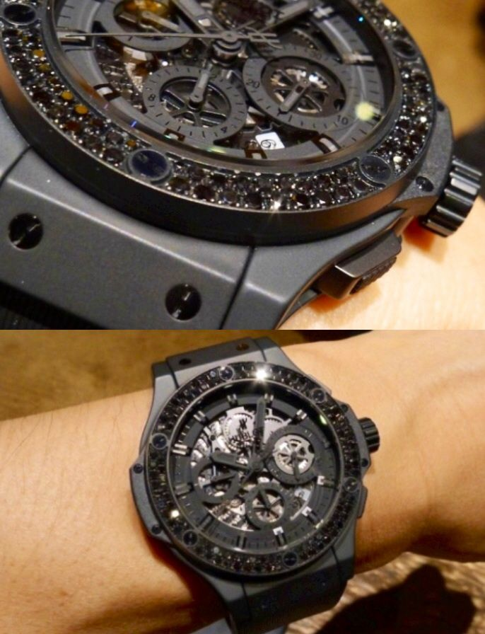 097adda5331 Men s Hublot Big Bang Aero Black Diamond Watch