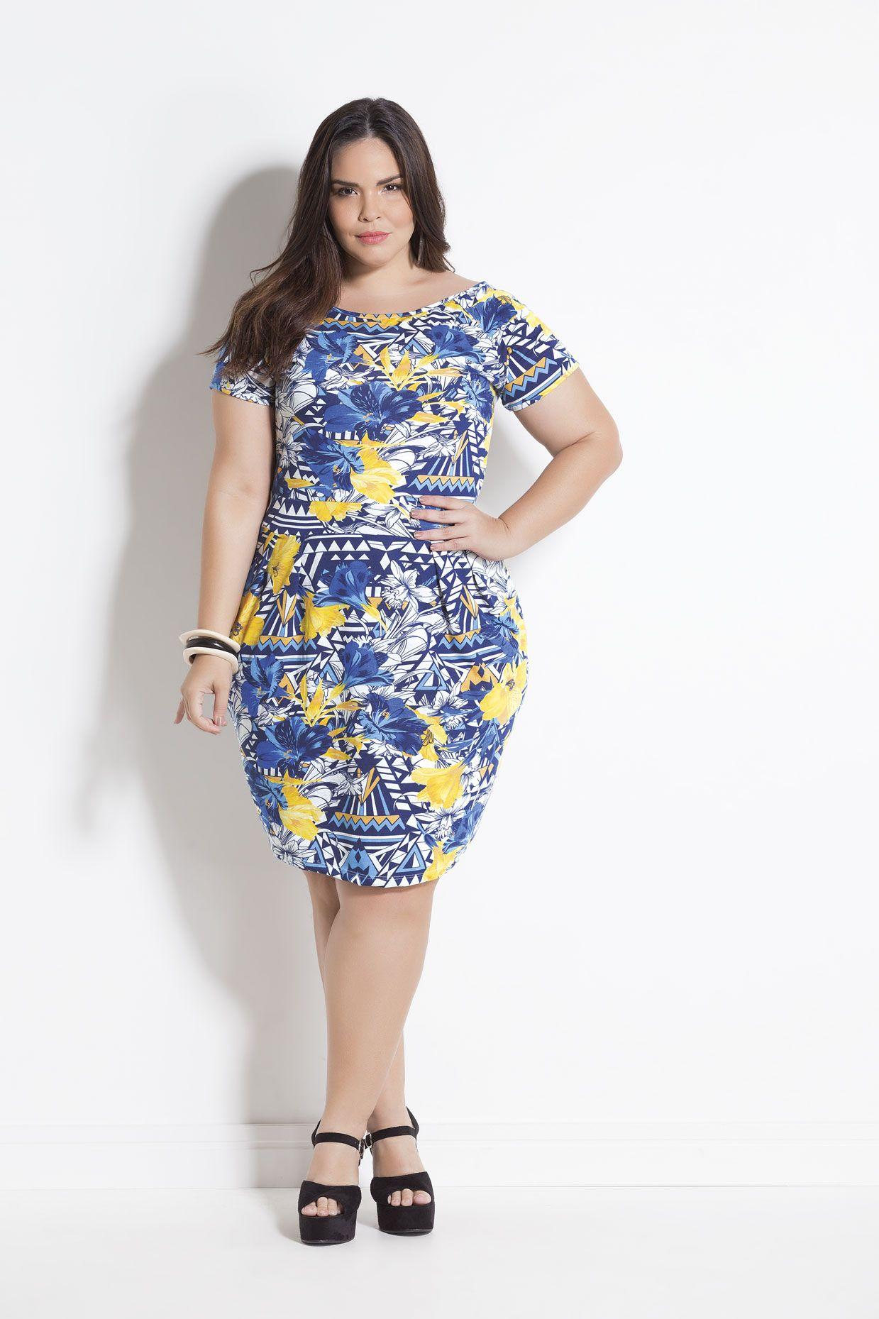 375bb41549 Tubinho Mix de Estampas Plus Size Marguerite | plus size dresses
