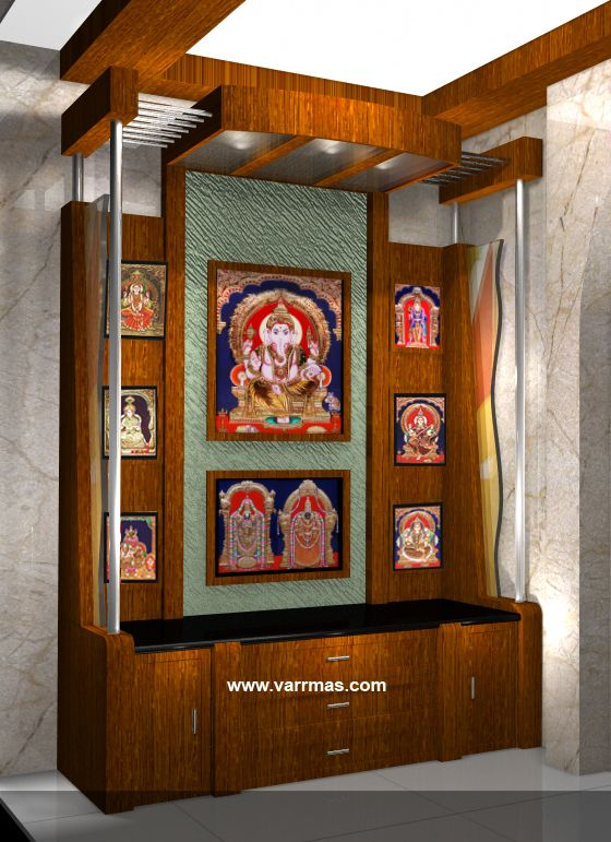 Cabinets pooja rooms open modular type pooja rooms my gods pinterest pooja rooms pooja for Design of mandir in living room
