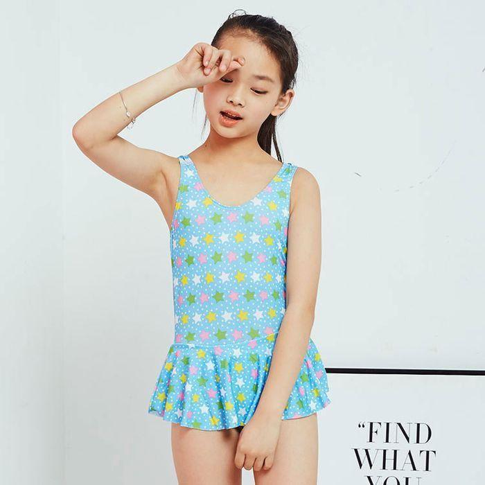 66828d1787be2 Children swimwear female lovely one piece children Swimwear princess baby  kids girls