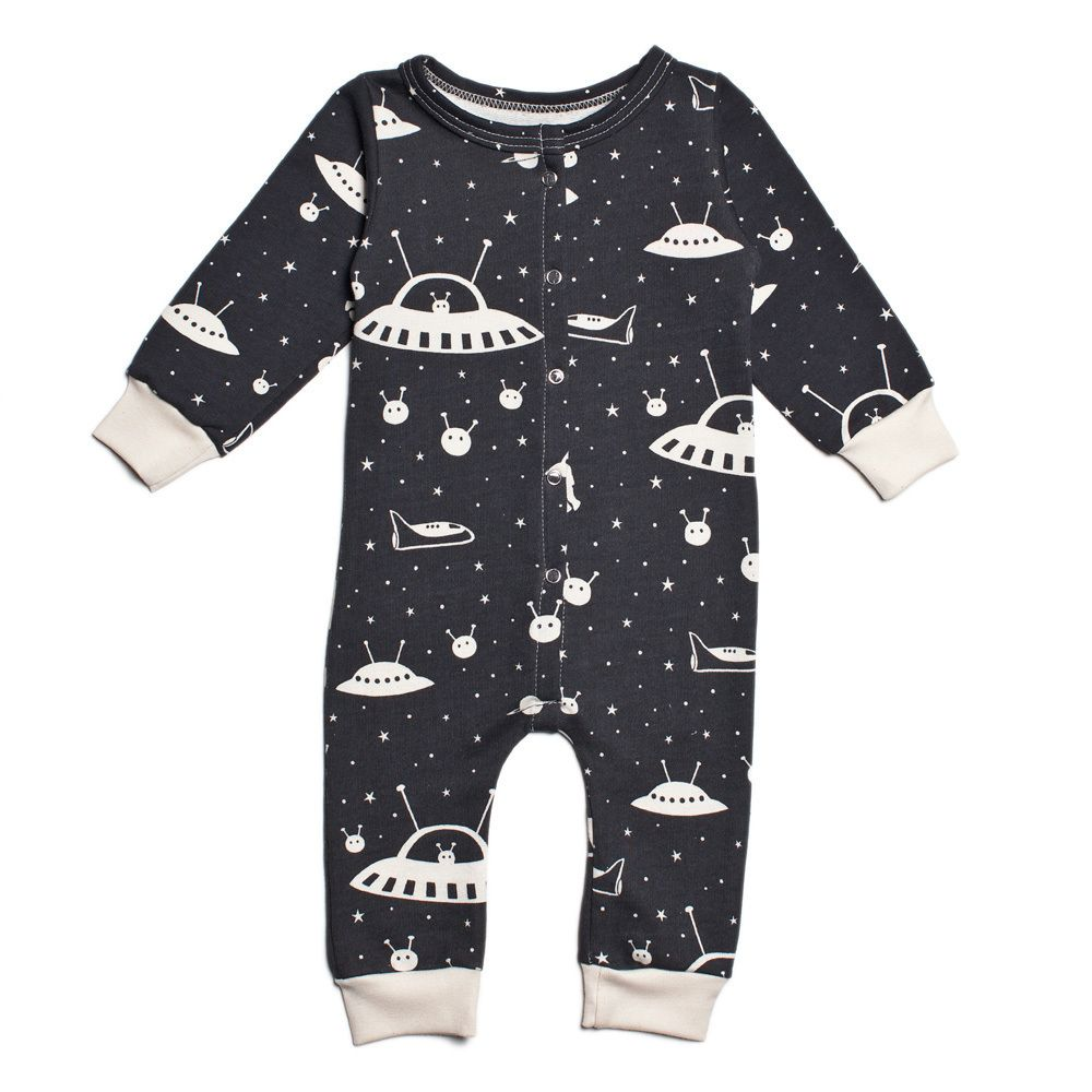 Winter Water Factory French Terry Jumpsuit Outer Space Charcoal