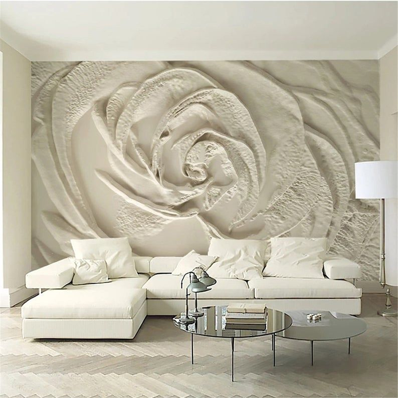 Flowers Wallpaper Wall Mural Wall Cloth Living Room Bedroom 3d Wallpaper Wall Covering In 2021 Wall Wallpaper Living Room Bedroom Wall Murals Bedroom