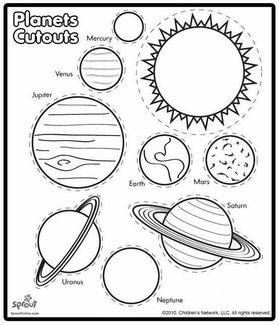 Planets color and cut | Space | Pinterest | Die schule, Schule und ...