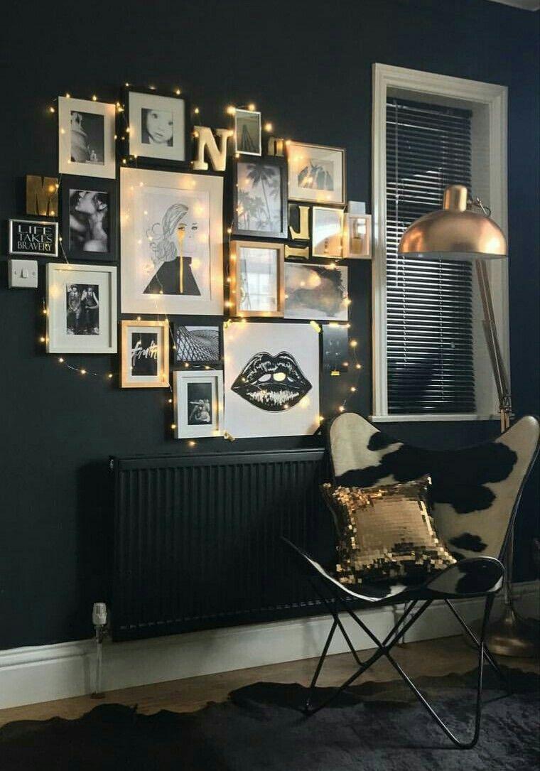 Home design bildergalerie gallery wall u string lights  bildergalerie  pinterest  gallery