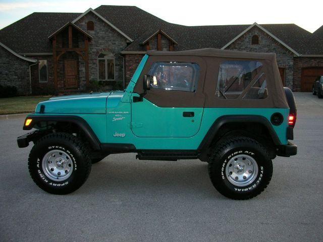 Teal Jeep Wrangler | Jeep Wranglers | Tigershark | Pinterest ...