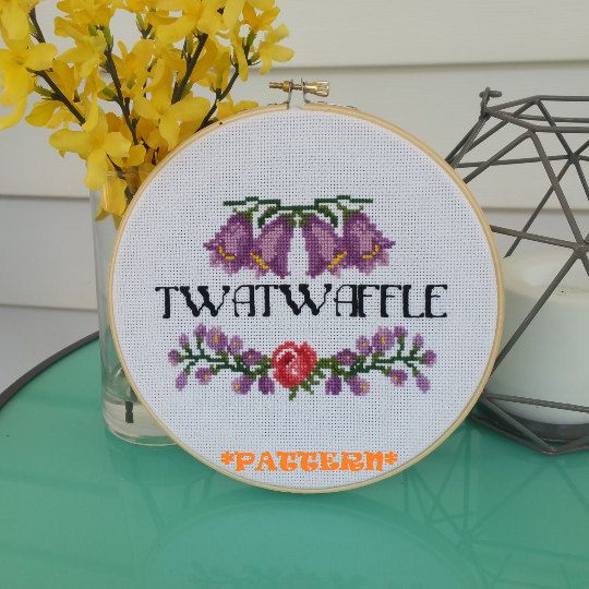 Funny Embroidery Quote Modern Counted Cross Stitch Subversive