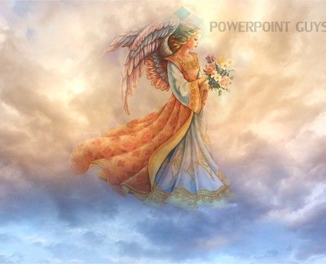 Angel PowerPoint Template for download and use for religious and ...
