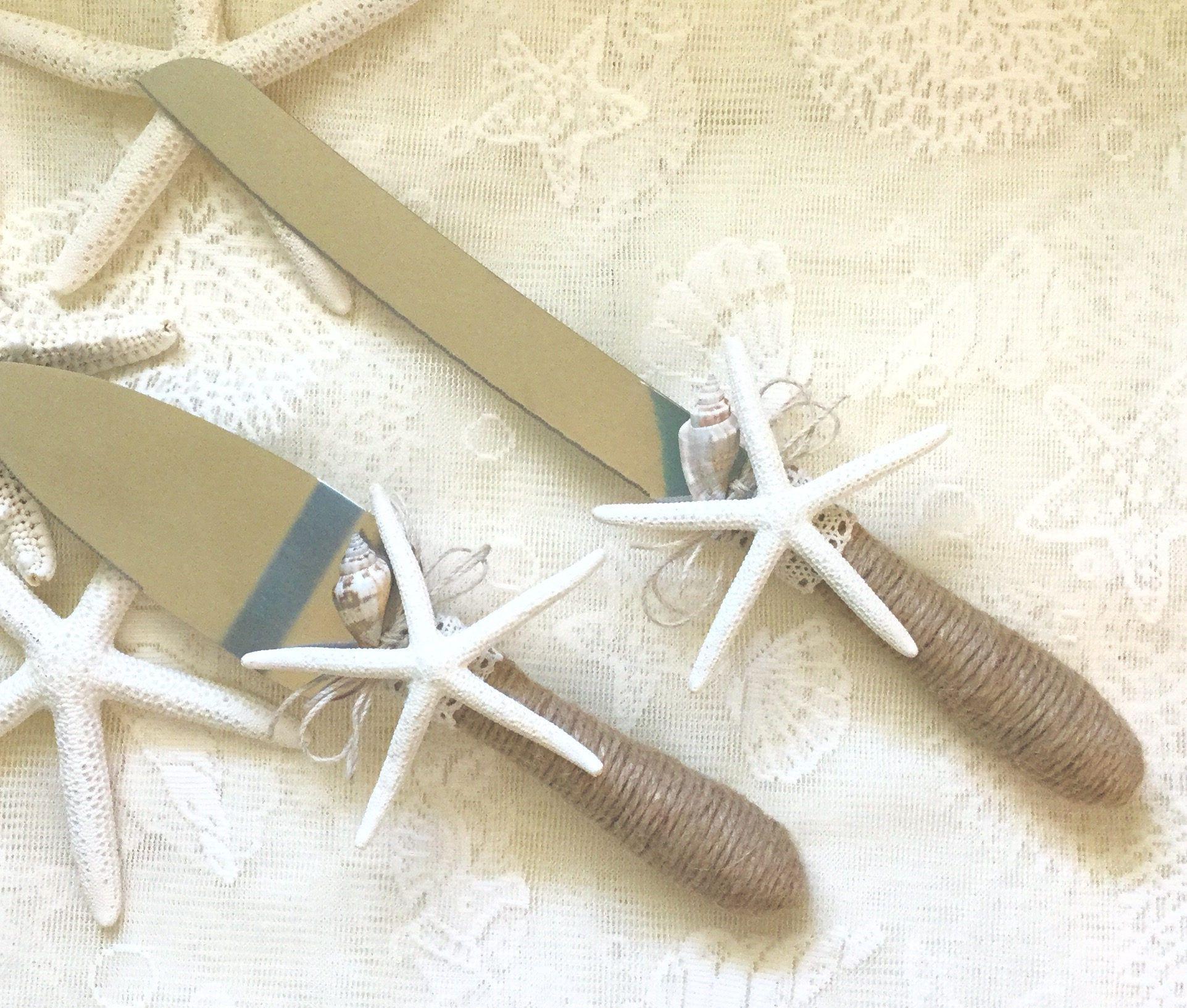Beach Wedding Cake Knife Serving Set Wedding Cake Cutter