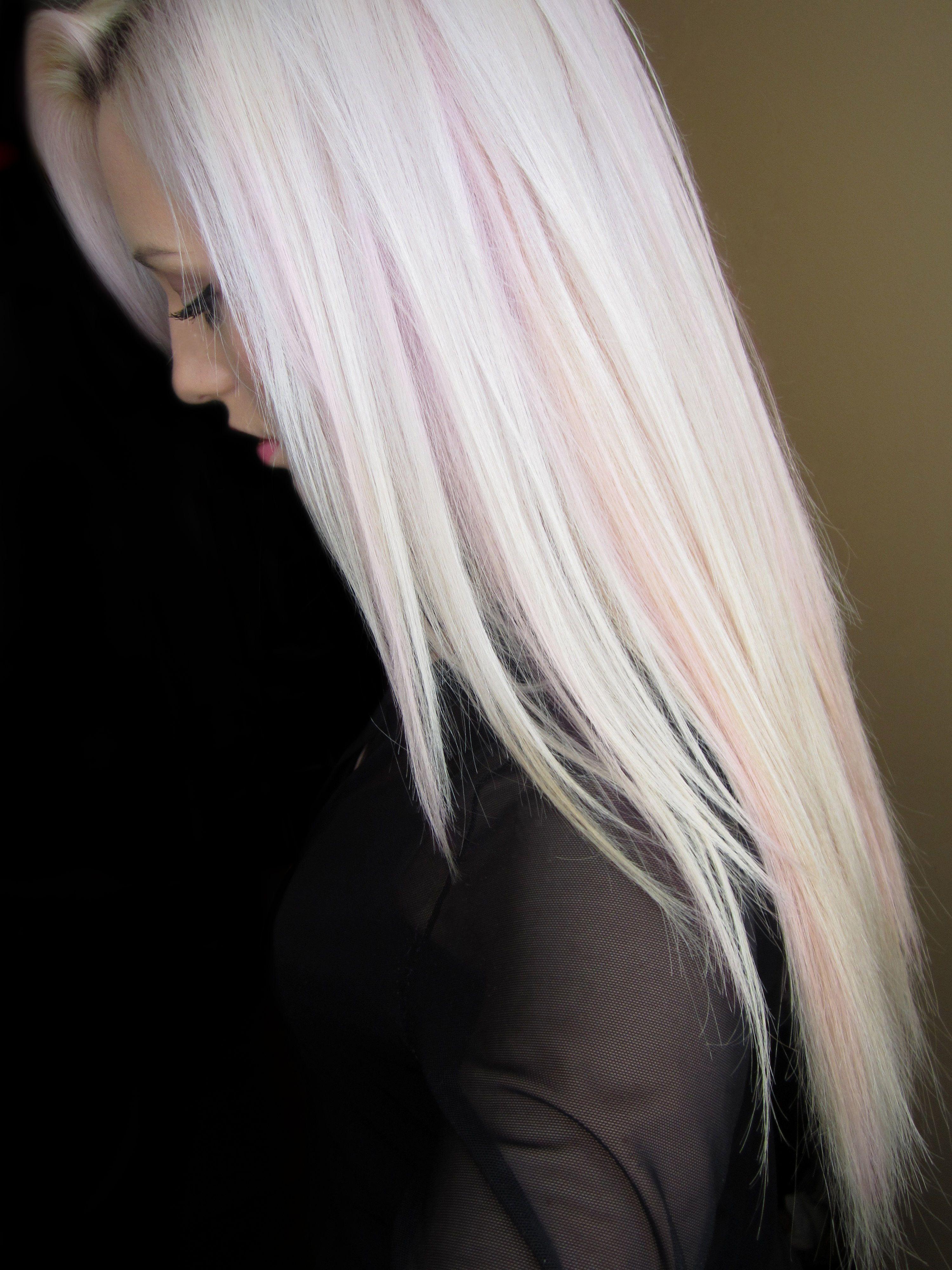 Baby Pink Lowlights Pink Blonde Hair Blonde Hair Color Hair