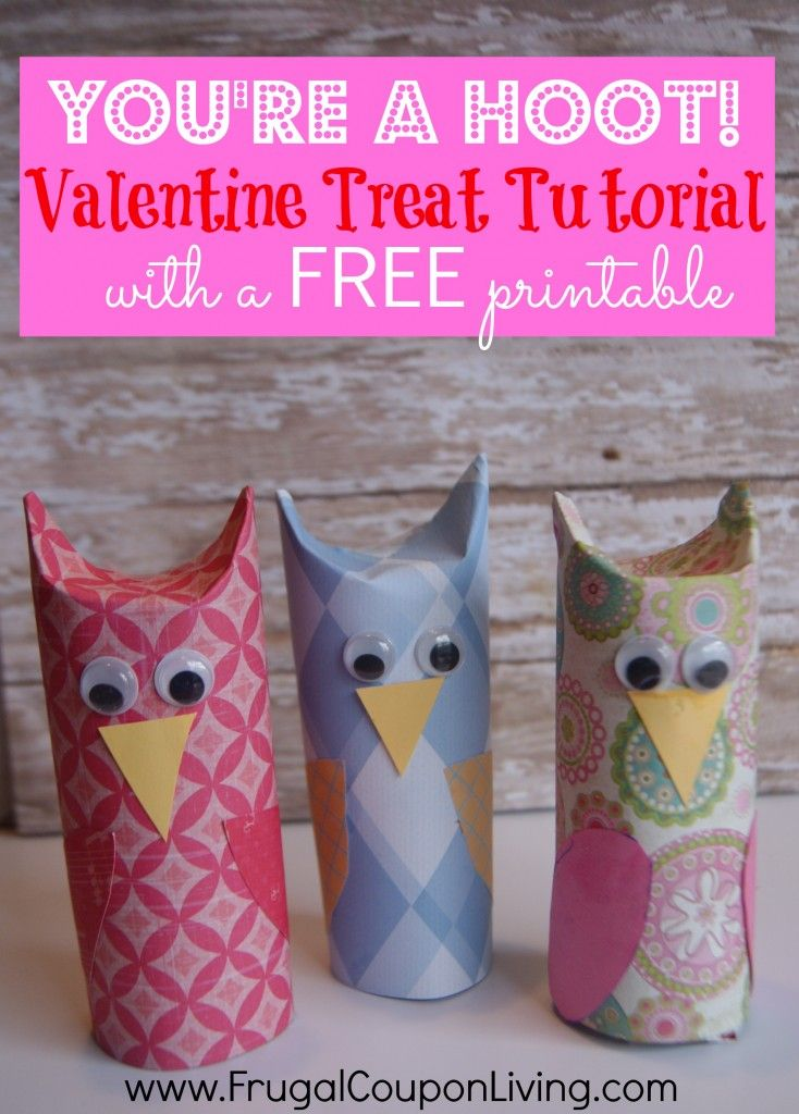 DIY Valentines Series – You're a HOOT Owl Valentine. Owl Craft. Valentine Kids Craft. Valentine DIY #craft #tutorial #valentine #valentinesday