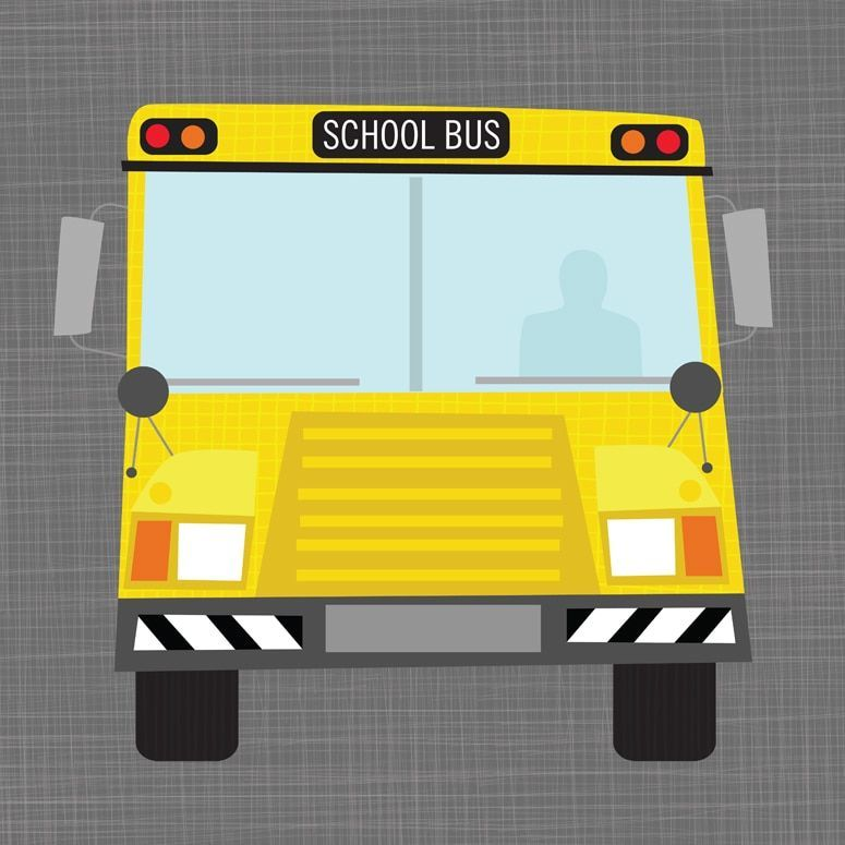 Oopsy Daisy School Bus Ways to Wheel Stretched Canvas Wall Art ...