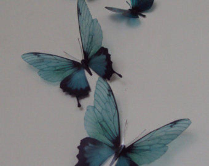 4 luxus erstaunliche blaugr n blaue schmetterlinge 3d for 3d raumgestaltung