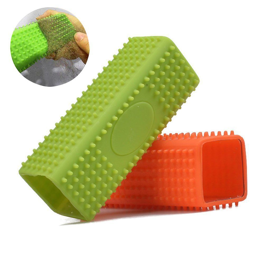 Pet Dog Cat Hair Remover Brush Mate Silicone Comb Grooming Tools Hair Cleaner Supplies Long Hair And Short Hair Gent Cat Grooming Pet Grooming Tools Clean Sofa