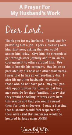 Prayer Of The Day - My Husband's Job | Sheretha | Prayers
