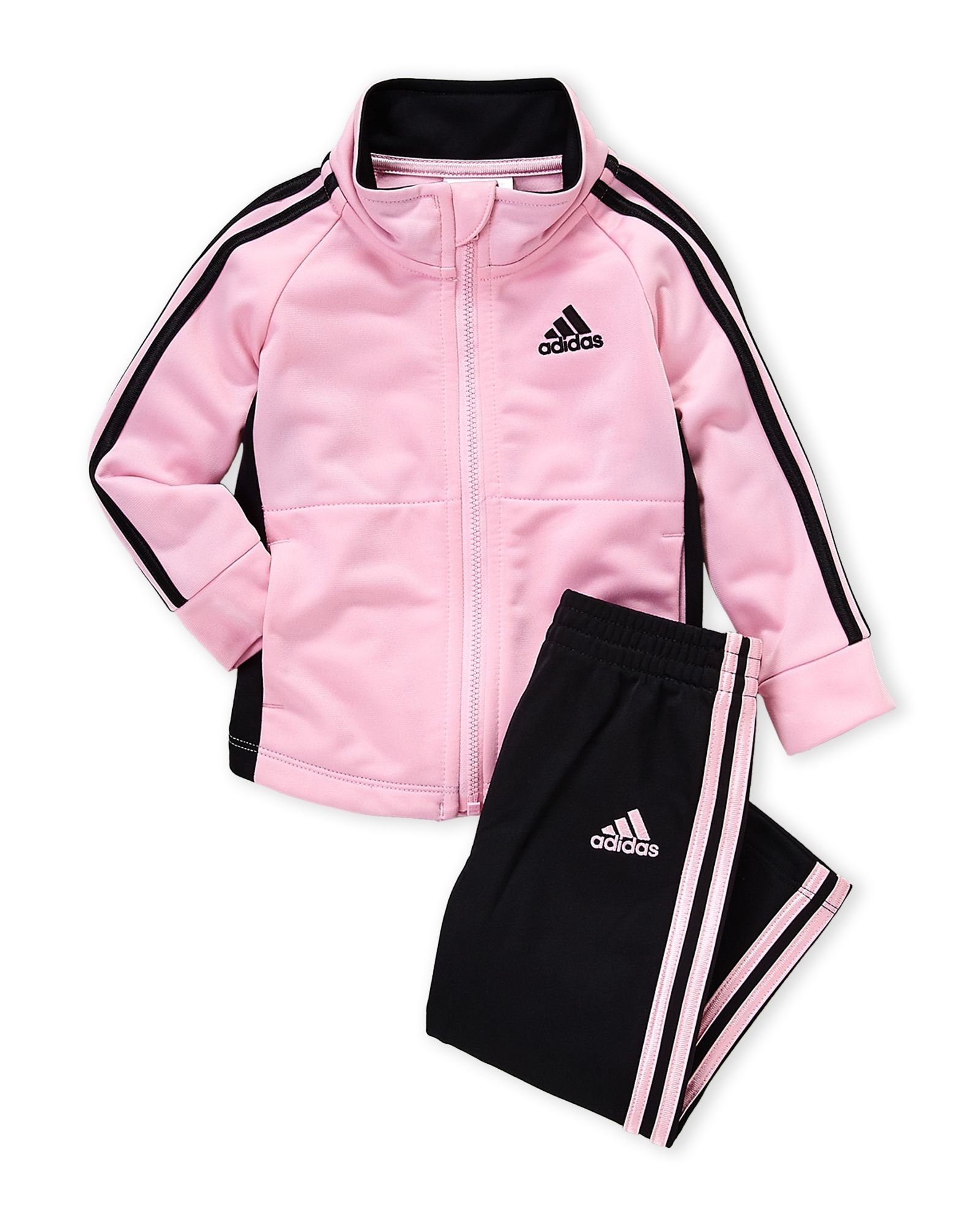Various sizes! Jogging suit adidas girls pink//grey infant//baby tracksuit