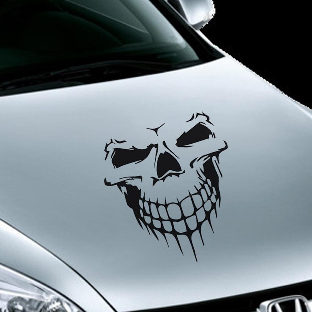 Big skull car sticker