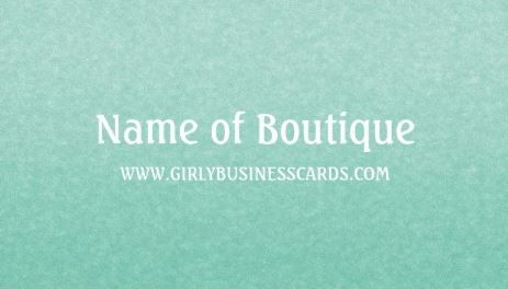 Simple chic mint green minimalist boutique template business cards business cards reheart Gallery
