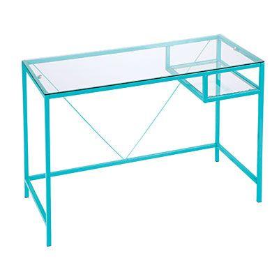 Aqua Glass Desk Black Glass Desk Glass Desk Design My Room
