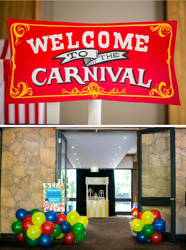 Carnival Theme Decoration Ideas Part - 35: Circus Carnival Boy Girl 5th Birthday Party Planning Ideas Supplies Ideas