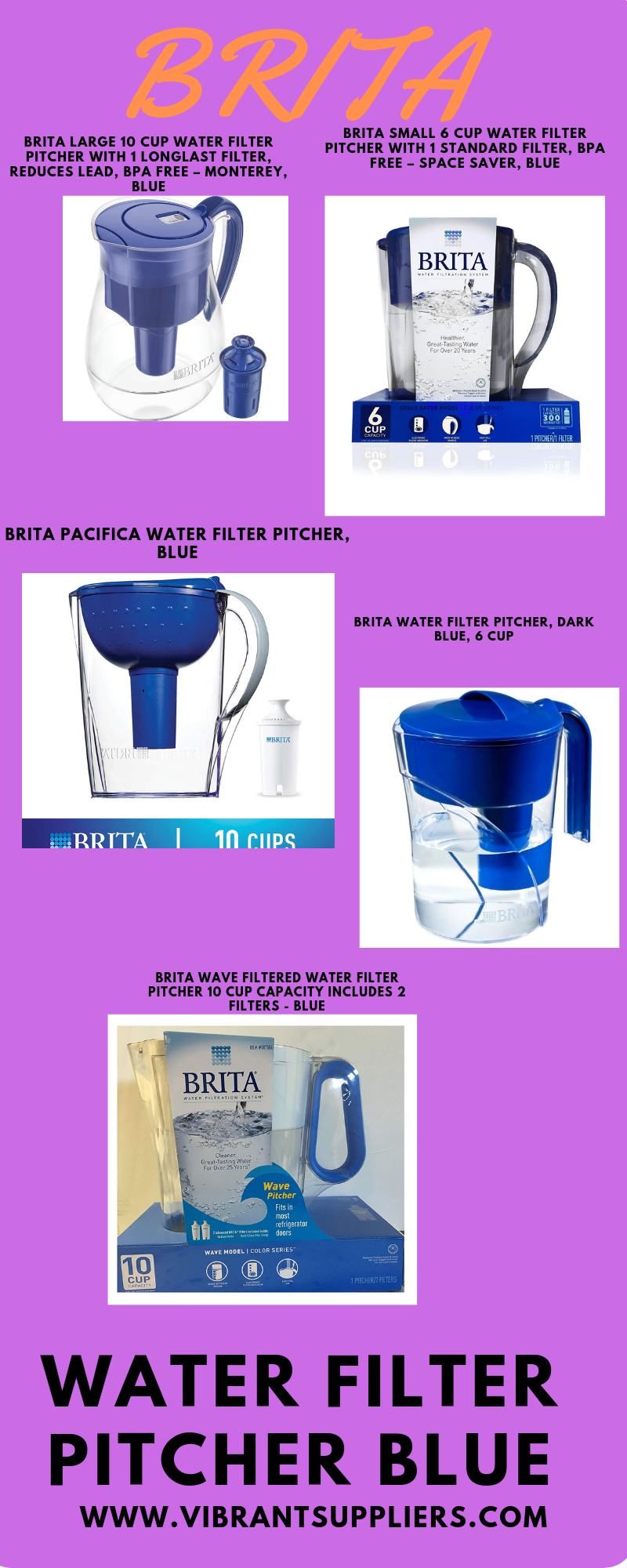 Find Out Best Brita Water Filter Pitcher Blue In Color Water