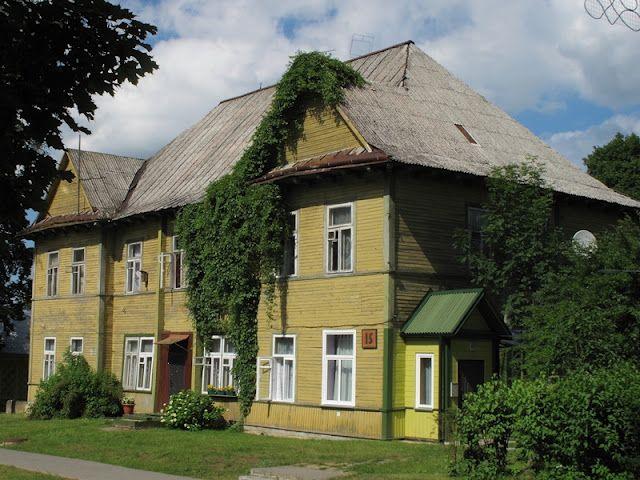 An old wooden house, Druskininkai, Lithuania