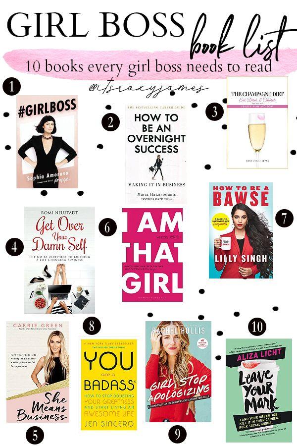 10 Books every #GirlBoss Needs to Read #GirlBoss Book List  #girlboss #bookstoread #books #girlbossbooks