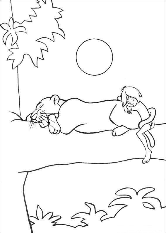 das dschungelbuch 53 ausmalbilder für kinder malvorlagen