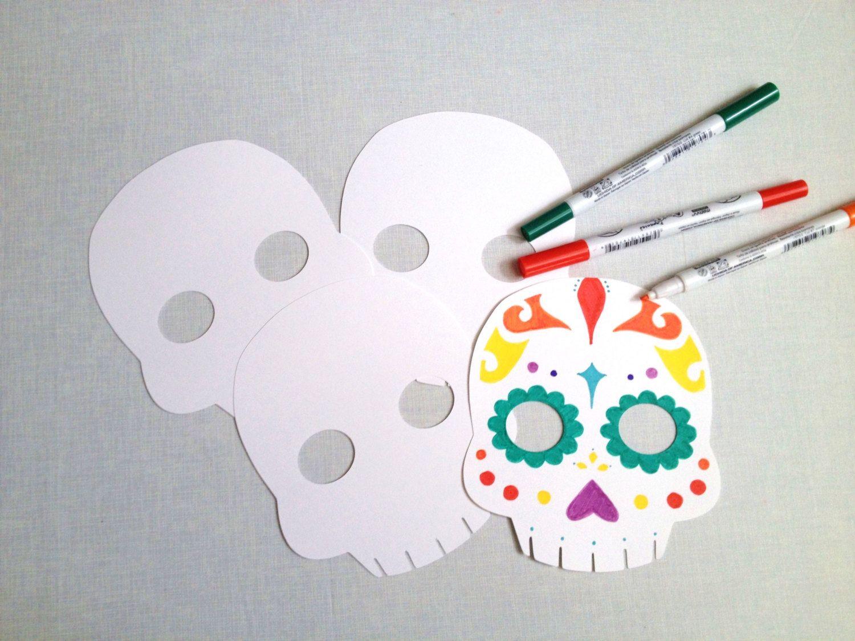 5 You Color Sugar Skulls - Day of the Dead Party - Dia de los ...
