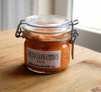 Healthy recept: Paprika hummus