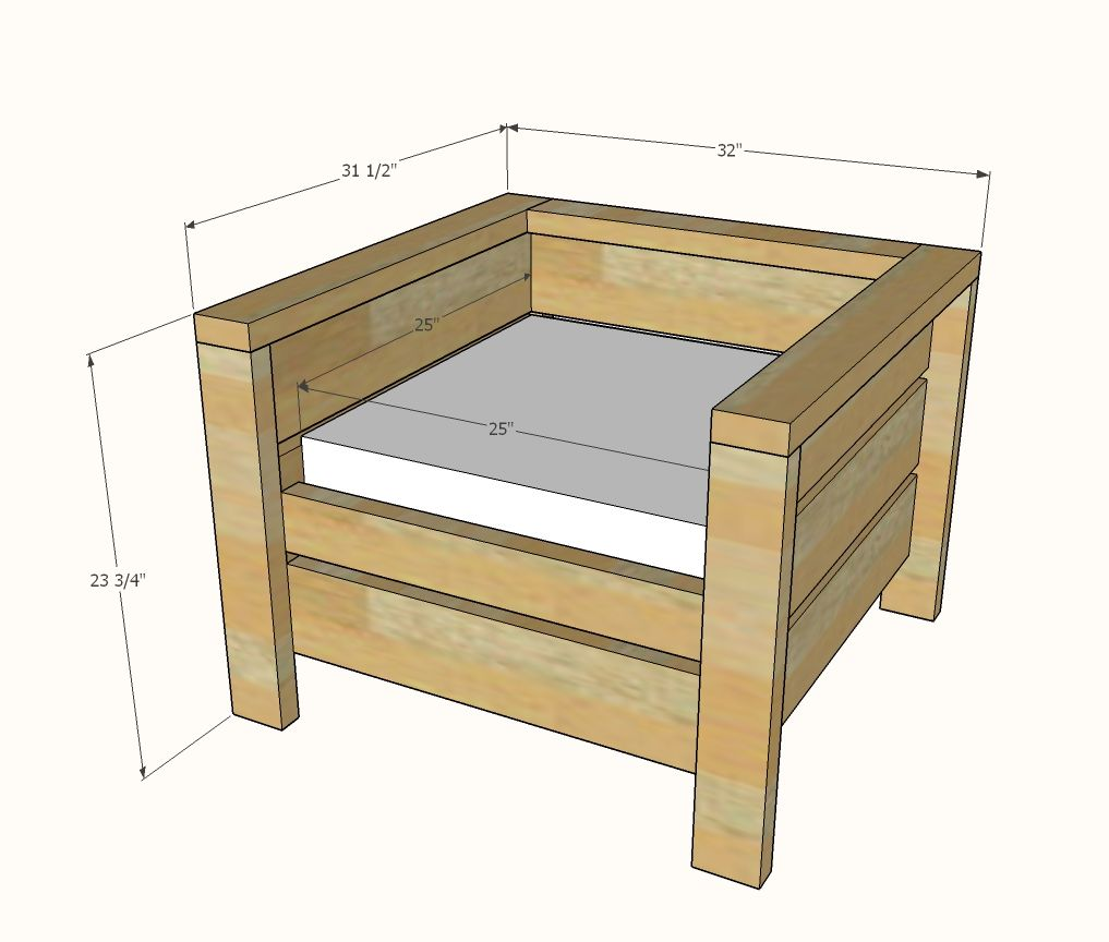 Modern Outdoor Chair From 2x4s And 2x6s Ana White Wood