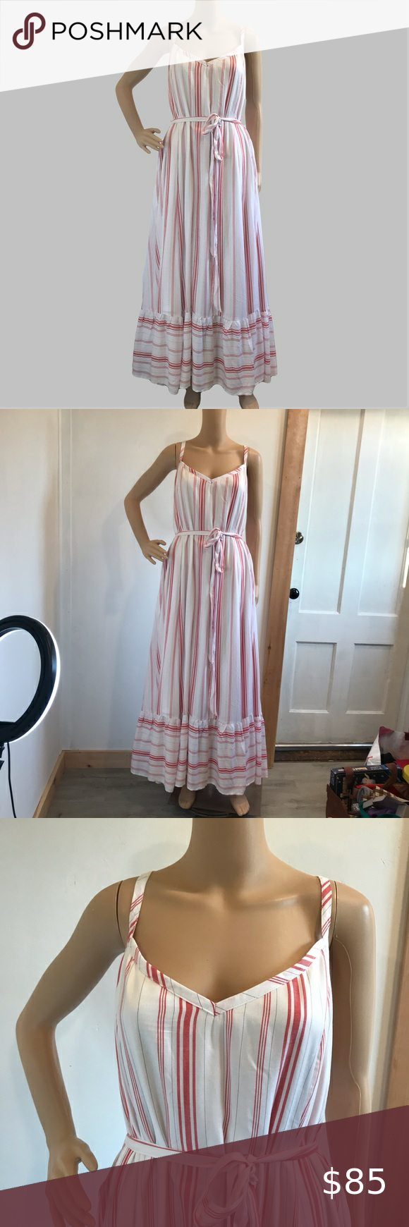 New Torrid White Red Striped Ruffle Maxi Dress 4x See Photos For More Info White With Red Stripe Details T Ruffled Maxi Dress Striped Maxi Dresses Maxi Dress [ 1740 x 580 Pixel ]