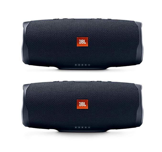 Jbl Charge 4 Portable Waterproof Wireless Bluetooth Speaker Bundle Pair Black Review Wireless Speakers Bluetooth Bluetooth Speaker Wireless Bluetooth