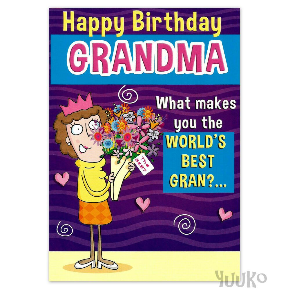 Details about GRANDMA FUNNY BIRTHDAY CARD Humour for