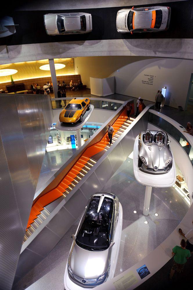 Germany Stuttgart Mercedes Museum Car Showroom Design Car Showroom Architecture Event Space Design