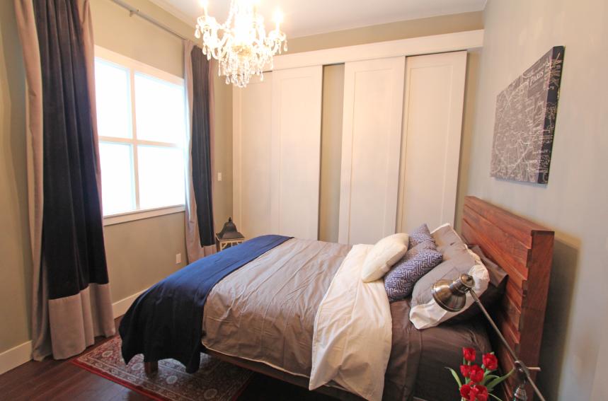 SOLD 99 Chandos Ave Unit 204 Toronto Hard Loft 1 Bedroom Chandelier Floor To Ceiling Closets