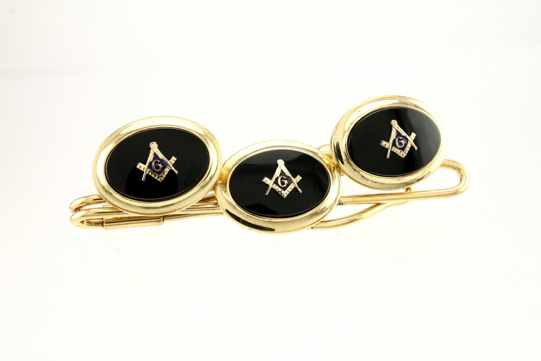 81f0538fba02 Vintage Masonic Cufflinks / Tie Bar Set 12K Gold by VintageMasonry on Etsy