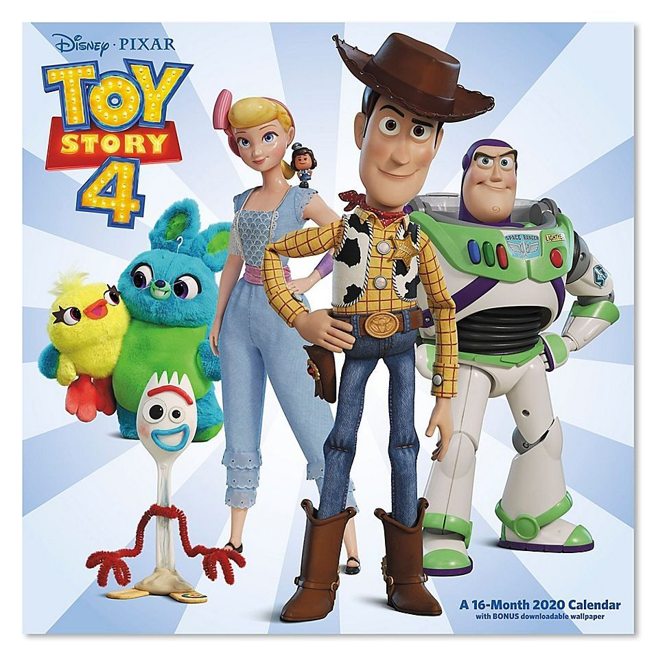 Toy Story 4 16 Month Wall Calendar Multi In 2020 Woody Toy Story Toy Story Room Disney Calendar