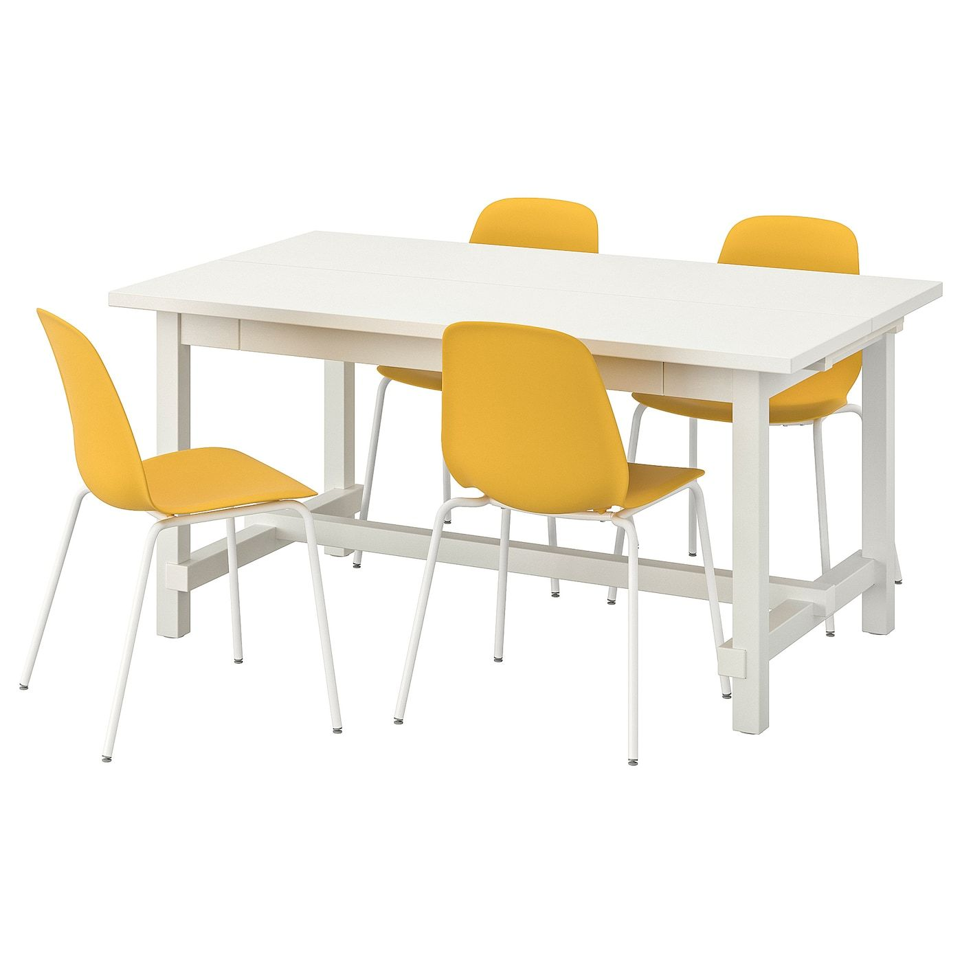 Ikea Tv Meubel Grenen.Ikea Nordviken Leifarne Table And 4 Chairs