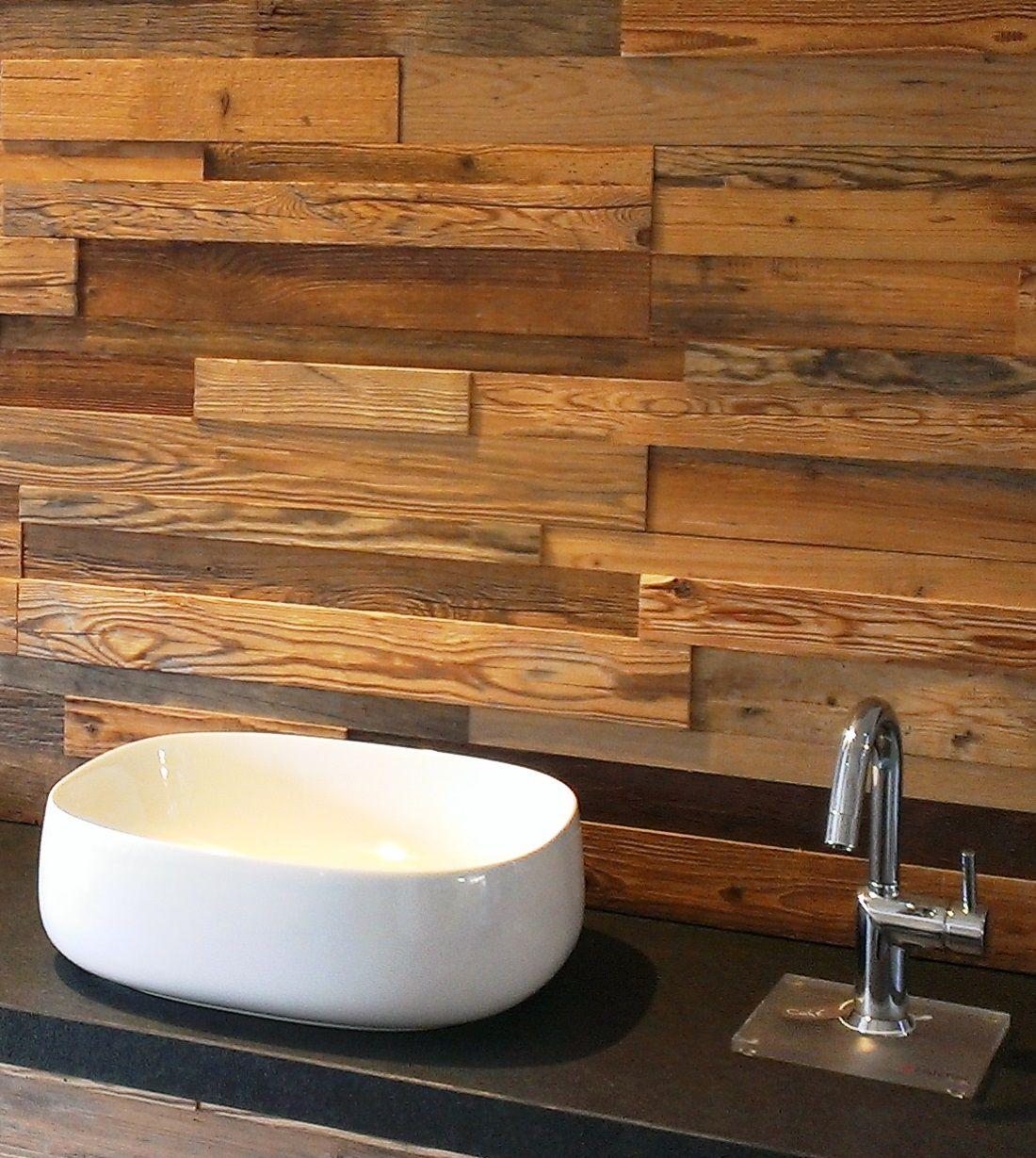 Waschbecken Holzwand Wasserhahn   Holzwand bad, Holzwand ...